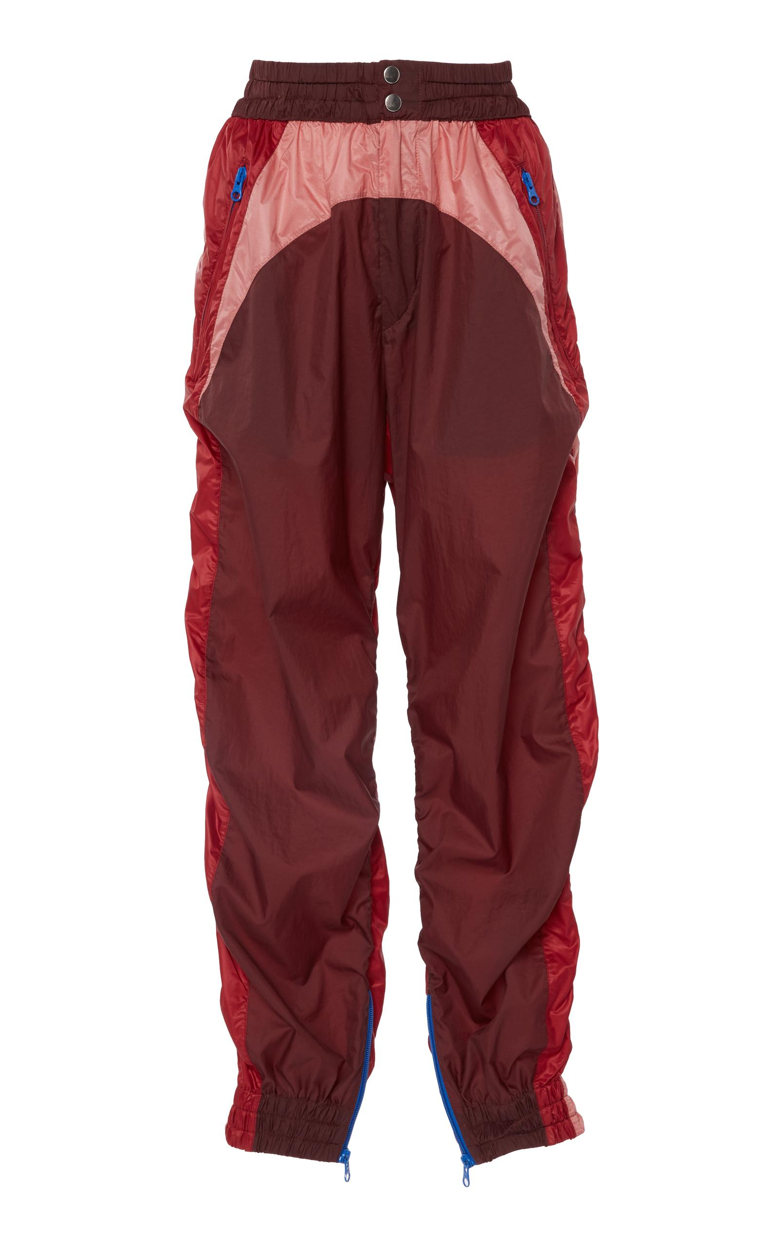 3c4cc8e2aca3 Isabel Marant Raruso Colorblock Nylon Parachute Jogger Pants In Burgundy