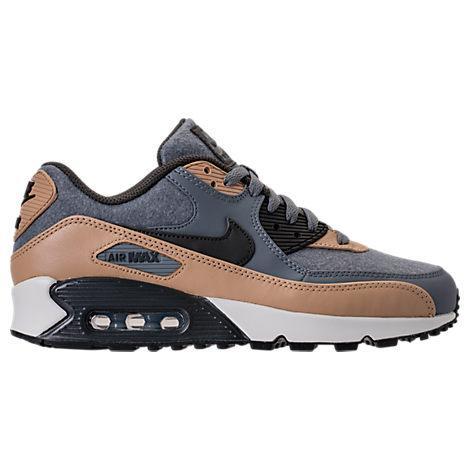 detailed look dfb10 54a31 Nike Men s Air Max 90 Premium Running Shoes, Grey In Cool Grey Pewter