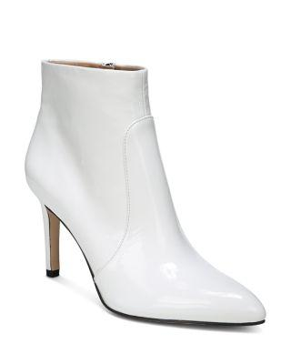 225139d7a9d4 Sam Edelman Women's Olette Patent Leather High Heel Booties In Bright White  Leather