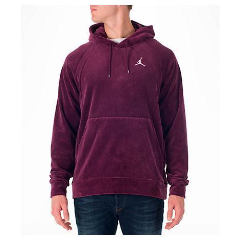 e8a5f0695f2696 Nike Men s Air Jordan Velour Hoodie