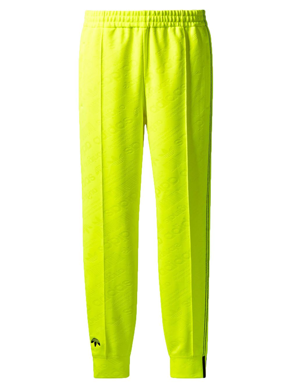Adidas Originals By Alexander Wang Adidas By Alexander Wang Women's Yellow Jacquard Jogging Trousers In In Collaboration With Alexander Wang