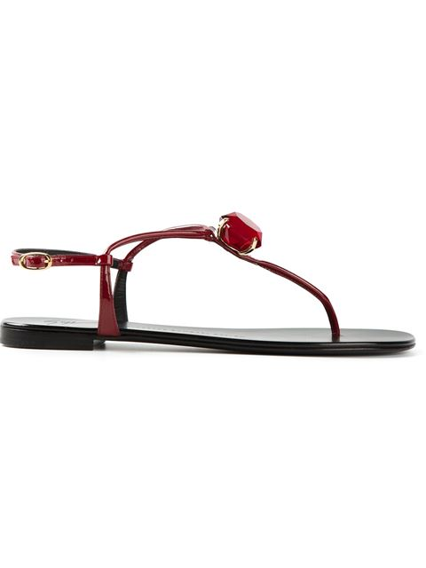 Giuseppe Zanotti Crystal Detail Sandals In Maroon