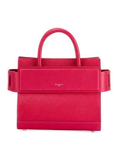 af58103c9e86 Givenchy Horizon Mini Grained Leather Tote Bag In Fuchsia