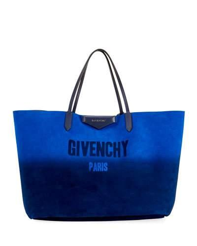 4215f487d5 Givenchy Antigona Shopping Large Gradient Tote Bag In Blue Silver ...