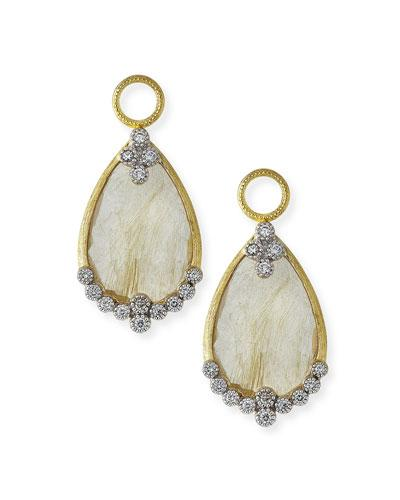 Jude Frances Provence Rutilated Quartz & Diamond Earring Charms In Gold