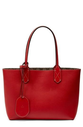 0e16cdb766a420 Gucci Small Turnaround Reversible Leather Tote - Beige In Beige Ebony/ Red