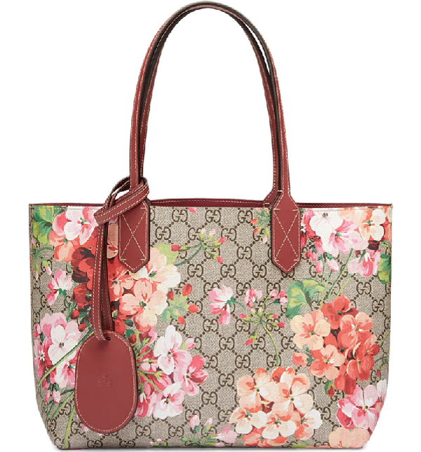 825471811bf910 Gucci Small Turnaround Reversible Leather Tote In Pink   ModeSens