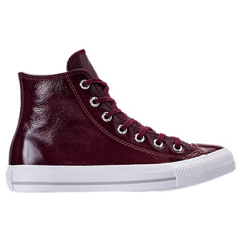 f51ef38d17a6 Converse Women s Chuck Taylor High-Top Patent Casual Sneakers From Finish  Line In Dark Sangria