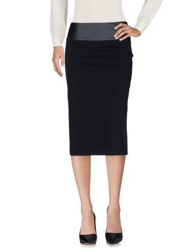 Maje Knee Length Skirt In Black