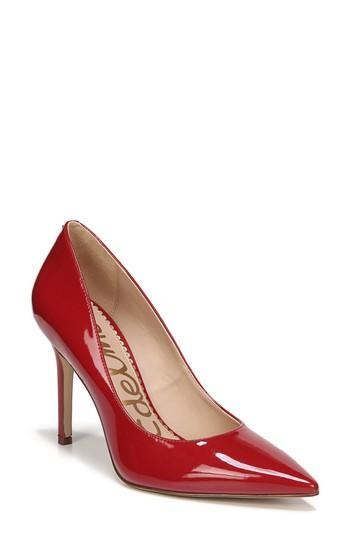 f35d5e048 Sam Edelman Hazel Pointy Toe Pump In True Red Patent Leather