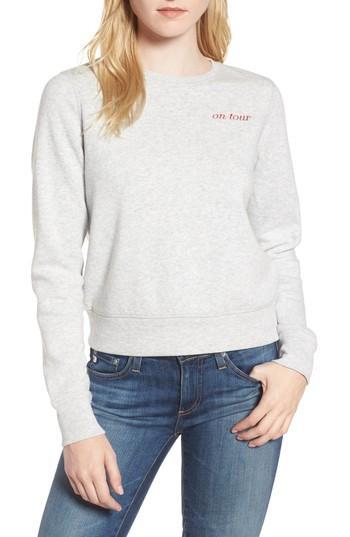 Rebecca Minkoff Kassidy Tour Sweatshirt In Tour Graphic Light Heather