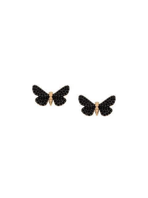 Astley Clarke Cinnabar Moth Earrings - Black