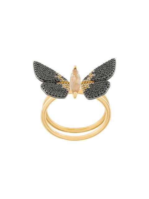 Astley Clarke Magpie Moth Ring