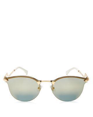 ffdaa8c4f3c Fendi Women s Mirrored Rimless Cat Eye Sunglasses
