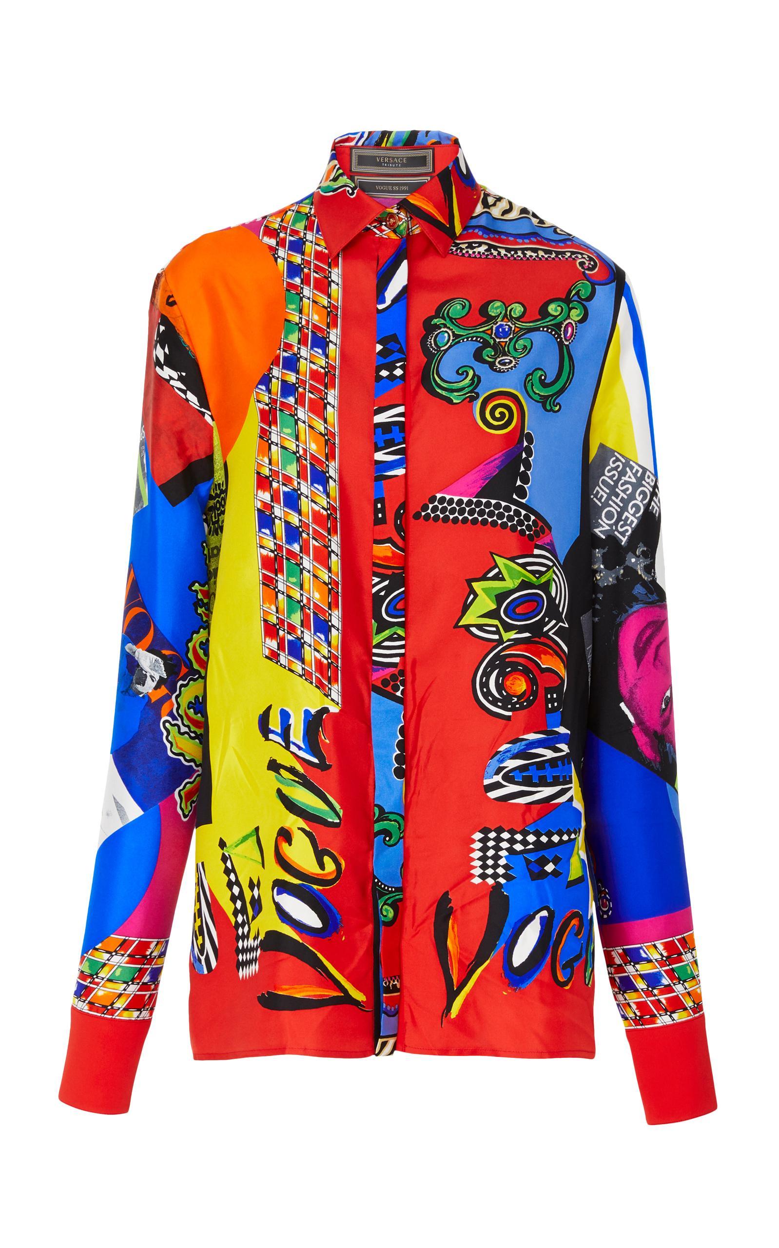 Versace Printed Silk Pyjama Shirt - DREAMWORKS