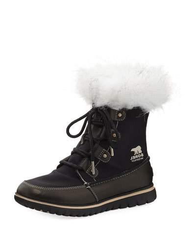 2d64ac6c7f1b Sorel Cozy Joan X Celebration Leather Ankle Boots In Black