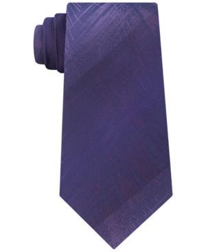 Calvin Klein Men's Brushed Fern Silk Tie In Purple