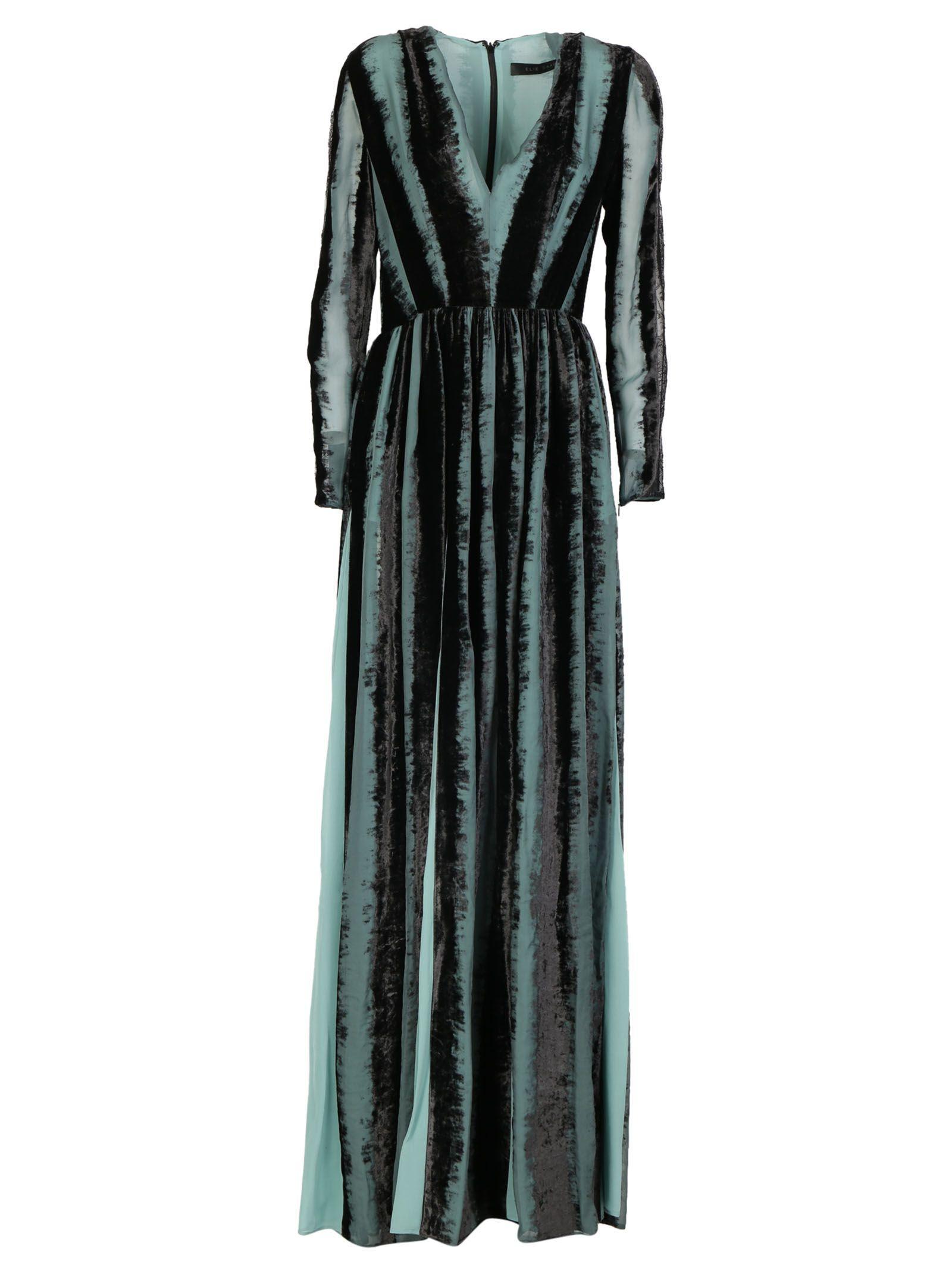Elie Saab Long Dress In Multicolor