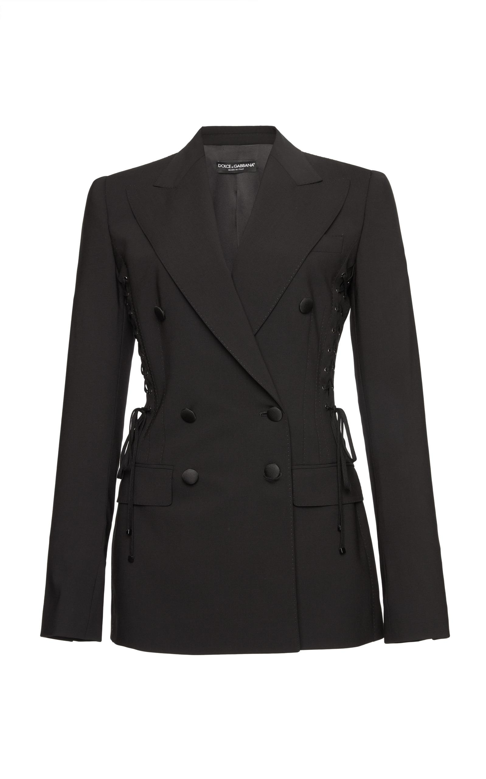 Dolce & Gabbana Double Breasted Jacket In Black