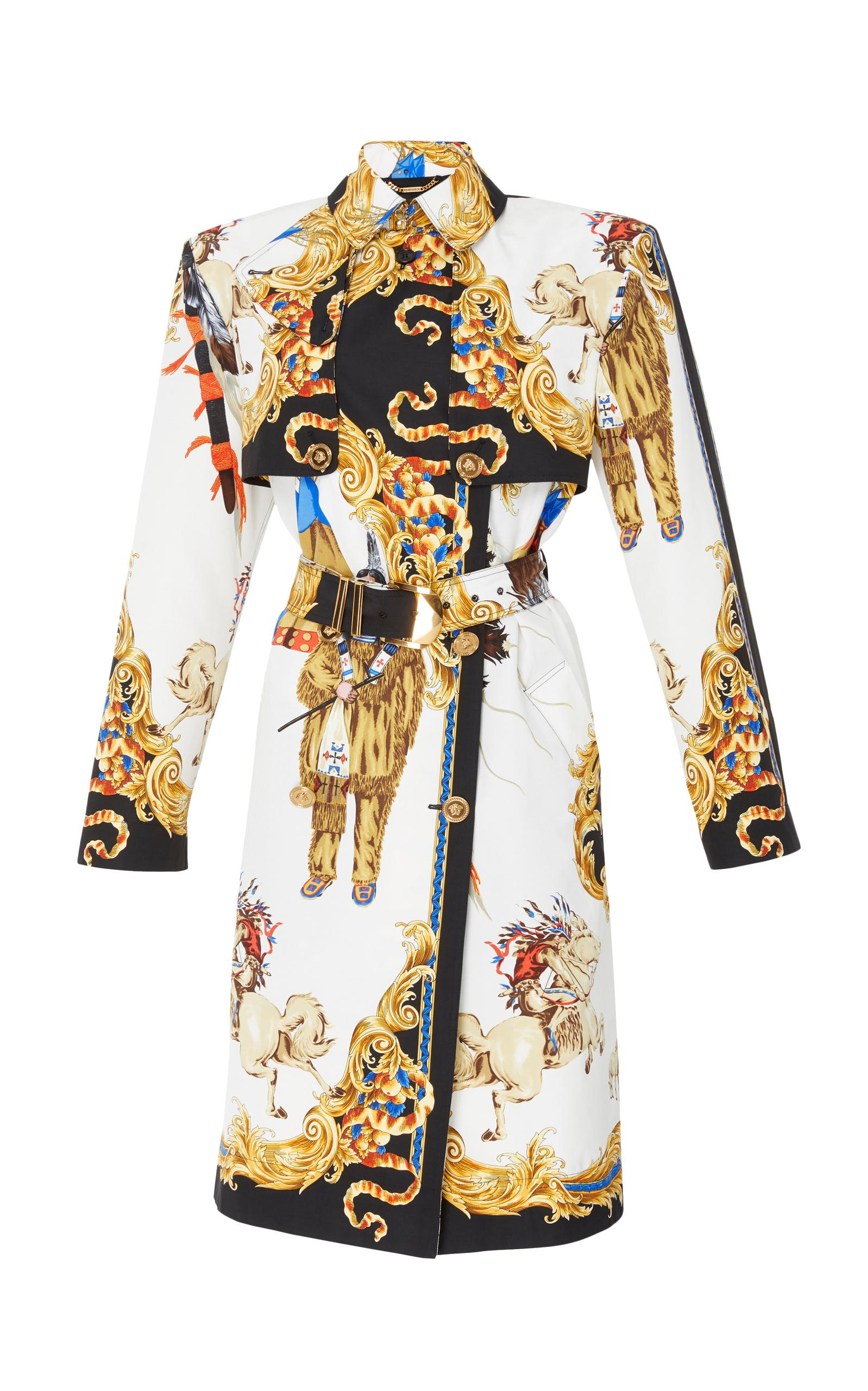 Versace Printed Trench Coat