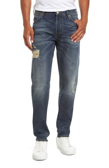 French Connection Slim Fit Distressed Jeans In Vintage And Holes