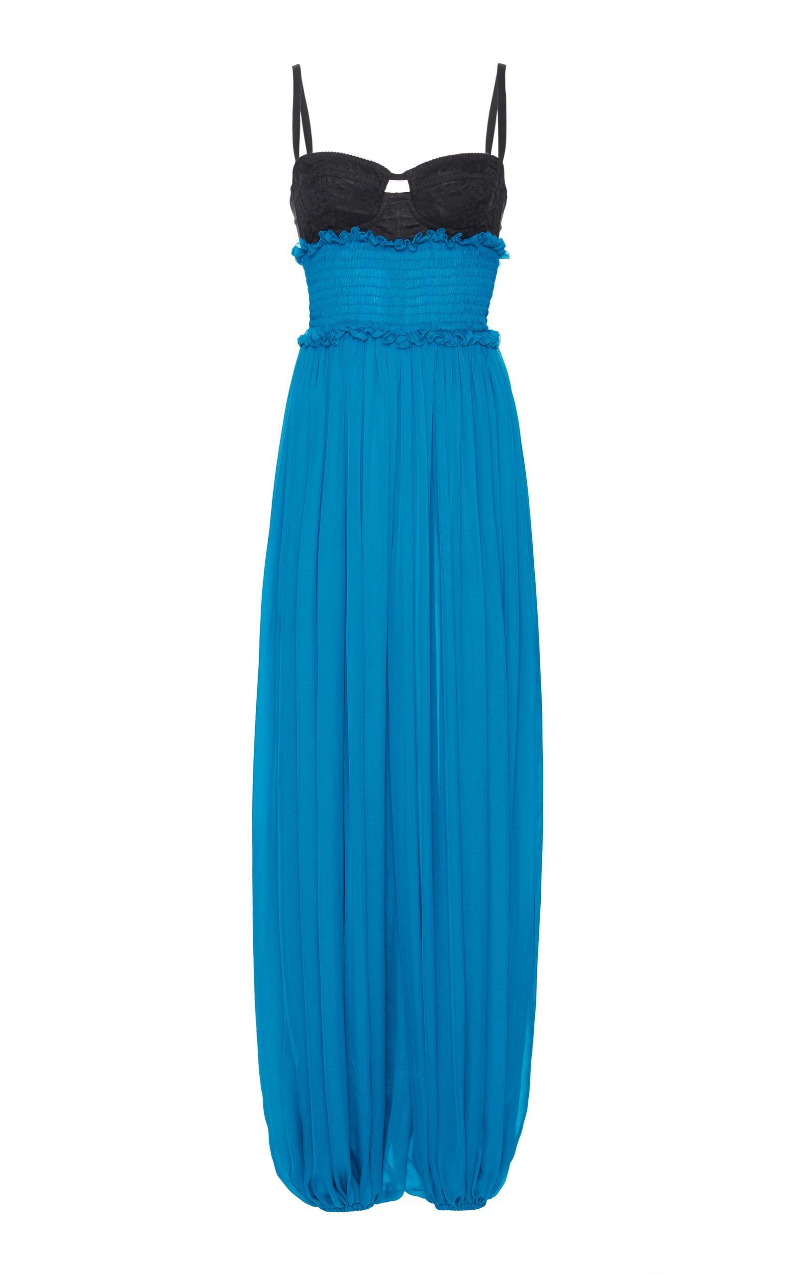 Dolce & Gabbana Bra Top Jumpsuit In Blue