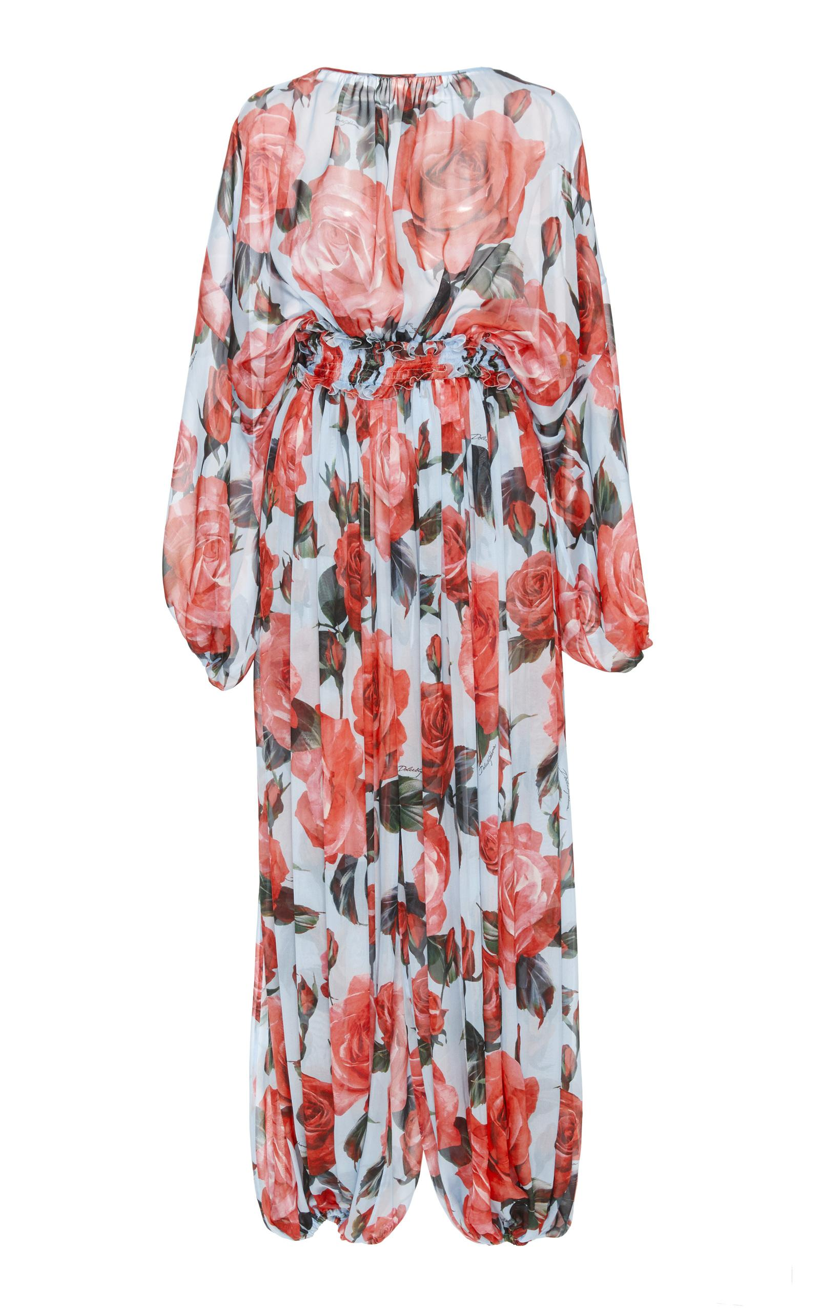 Dolce & Gabbana Rose Printed Jumpsuit In Floral
