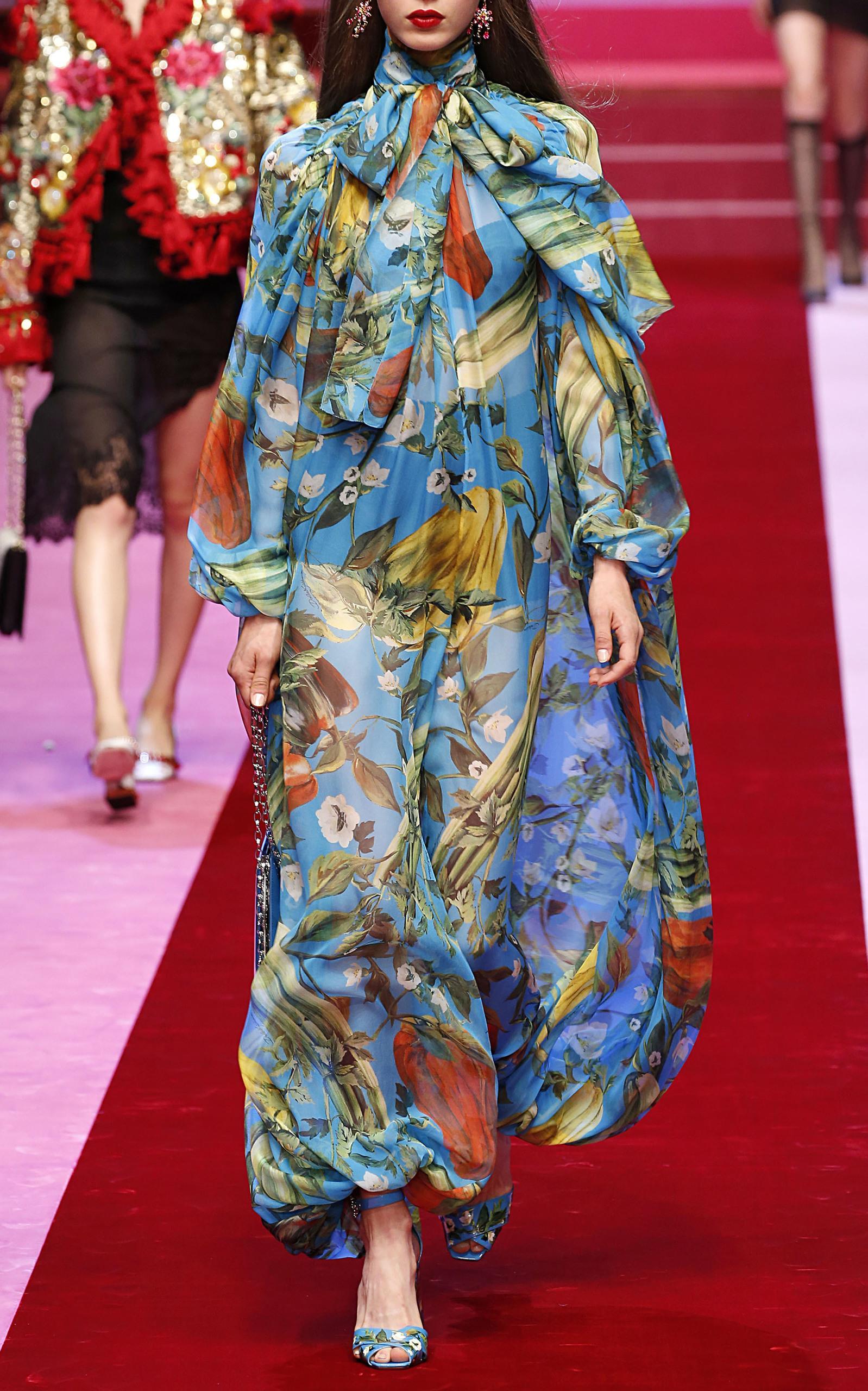 Dolce & Gabbana Floral Jumpsuit In Print