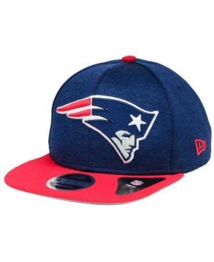 New Era New England Patriots Heather Huge 9Fifty Snapback Cap In Navy/Red