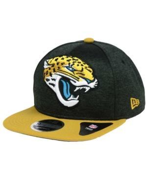 New Era Jacksonville Jaguars Heather Huge 9Fifty Snapback Cap In Black/Old Gold