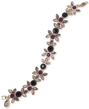 Ivanka Trump Gold-Tone Multi-Stone Flower Flex Bracelet