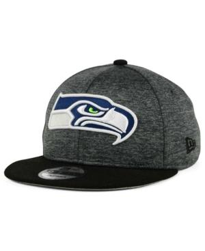 New Era Seattle Seahawks Heather Huge 9Fifty Snapback Cap In Heather Graphite/Black