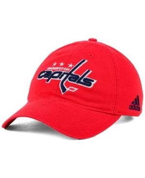 Adidas Originals Adidas Washington Capitals Core Slouch Cap In Red