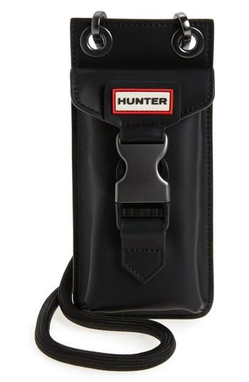 Hunter Original Rubberized Leather Phone Pouch - Black