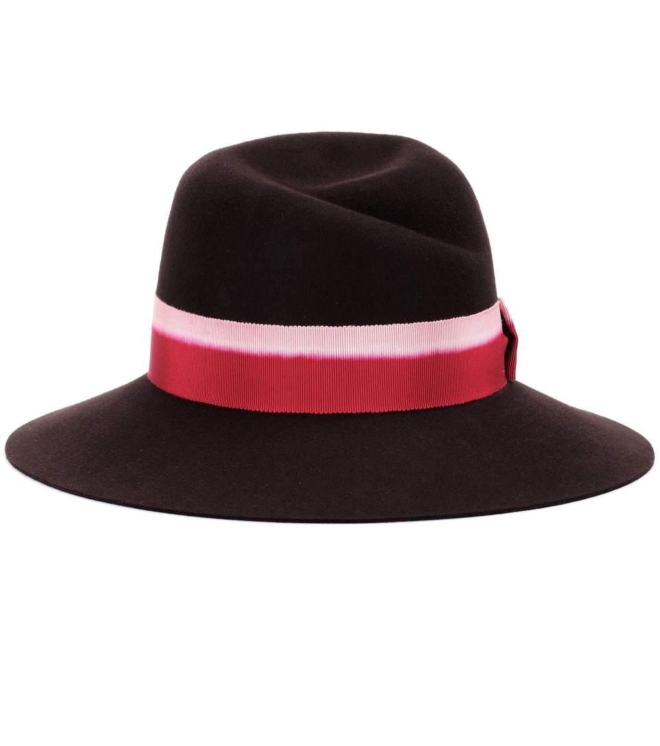 Maison Michel Virginie Felted Hat In Lrowe