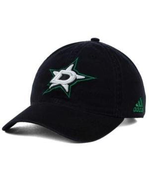 Adidas Originals Adidas Dallas Stars Core Slouch Cap In Black