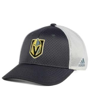 Adidas Originals Adidas Vegas Golden Knights Mesh Flex Cap In Charcoal/White