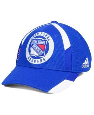 Adidas Originals Adidas New York Rangers Practice Jersey Hook Cap In Royalblue/White