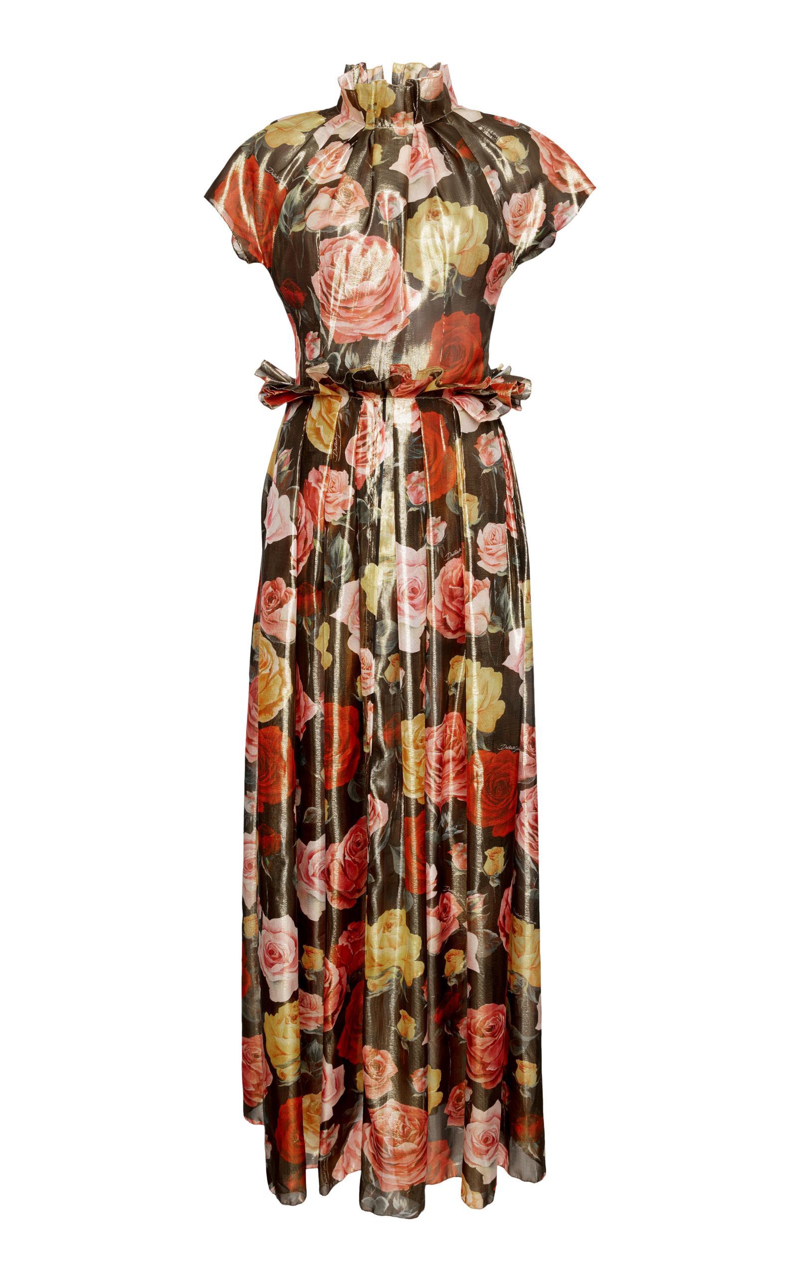 Dolce & Gabbana Short Sleeve Floral Jumpsuit