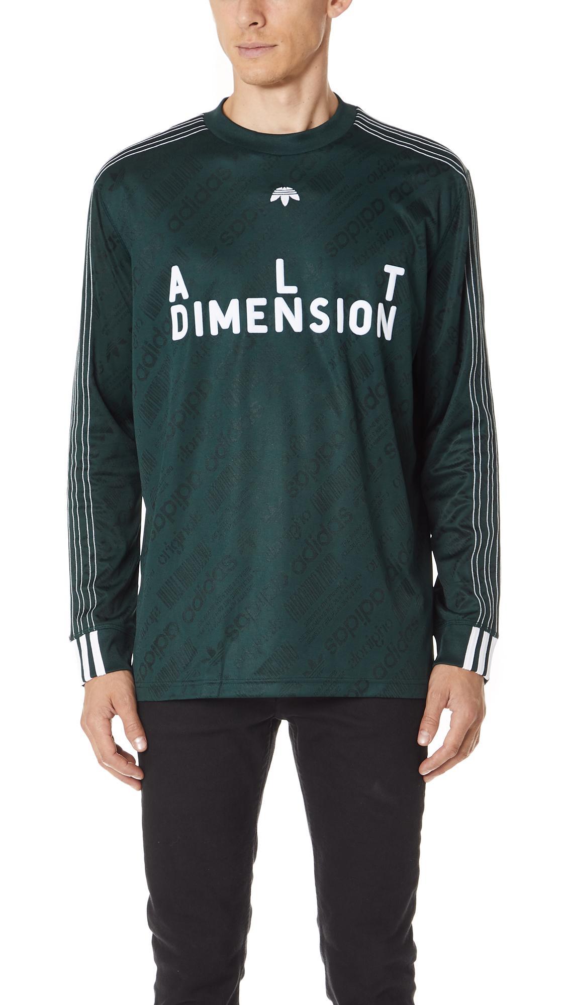 Adidas Originals By Alexander Wang Aw Soccer Long Sleeve Jersey In Green
