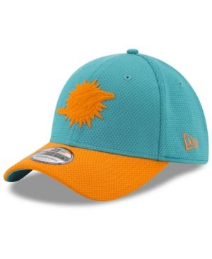 New Era Miami Dolphins Logo Surge 39Thirty Cap In Aqua/Orange