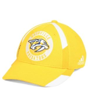 Adidas Originals Adidas Nashville Predators Practice Jersey Hook Cap In Gold