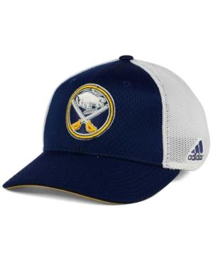 Adidas Originals Adidas Buffalo Sabres Mesh Flex Cap In Navy/White