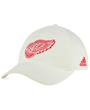Adidas Originals Adidas Detroit Red Wings Core Slouch Cap In White