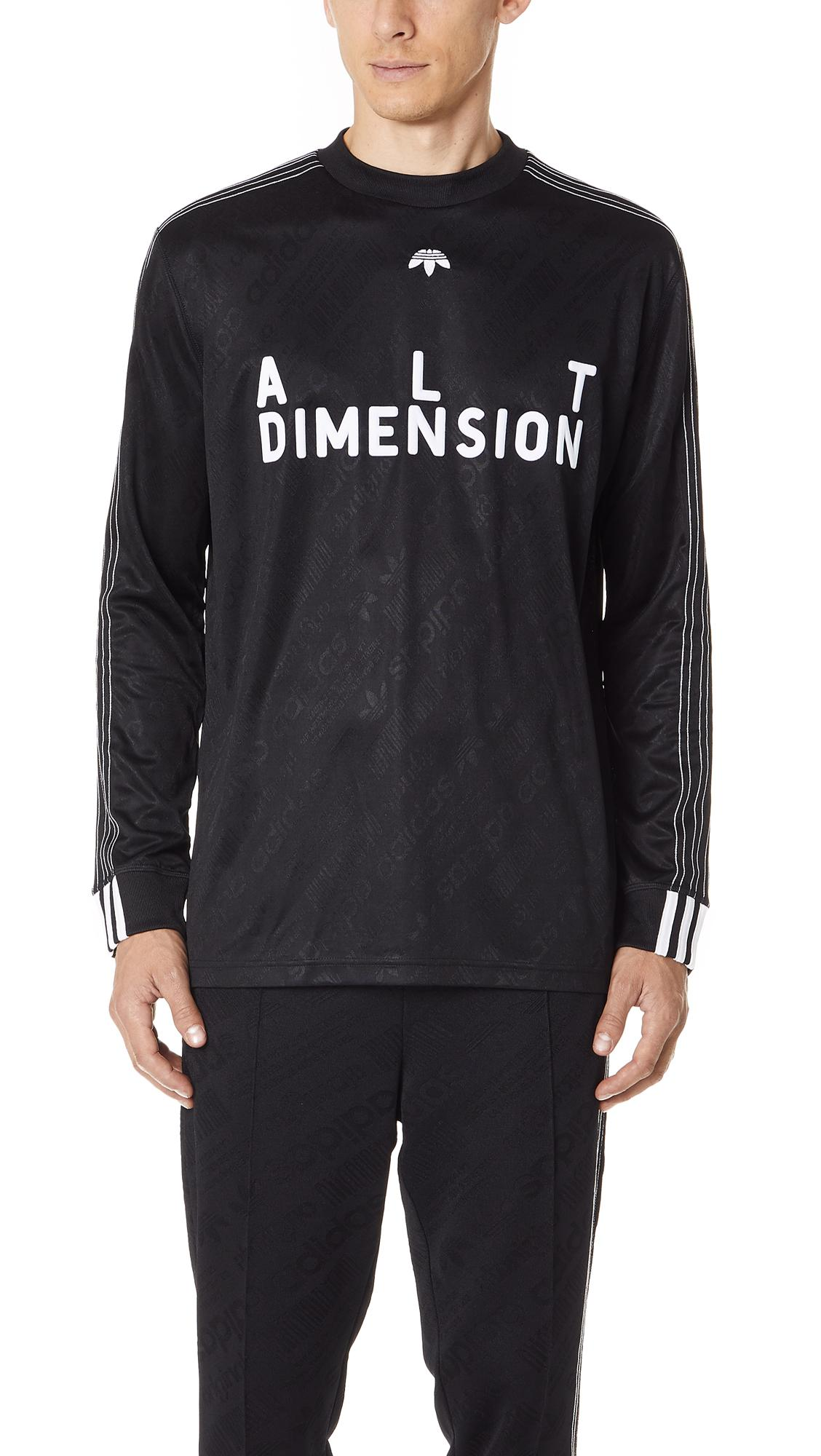 Adidas Originals By Alexander Wang Alt Dimension Long Sleeve Soccer Jersey In Black