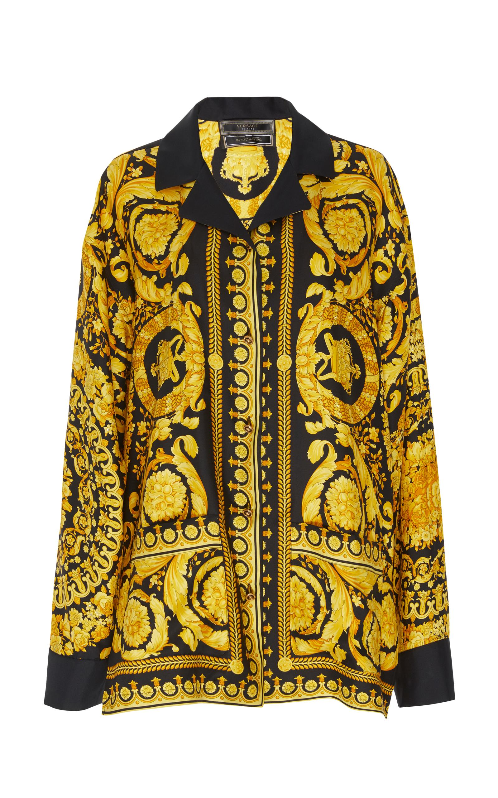 Versace Pajama Shirt In Print
