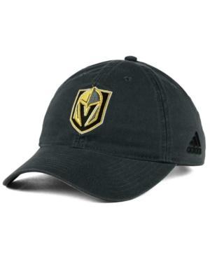 Adidas Originals Adidas Vegas Golden Knights Core Slouch Cap In Gray