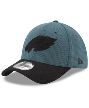 New Era Philadelphia Eagles Logo Surge 39Thirty Cap In Green/Black