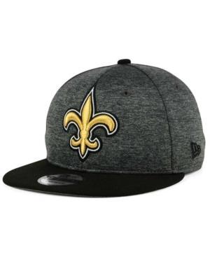 New Era New Orleans Saints Heather Huge 9Fifty Snapback Cap In Heather Graphite/Black