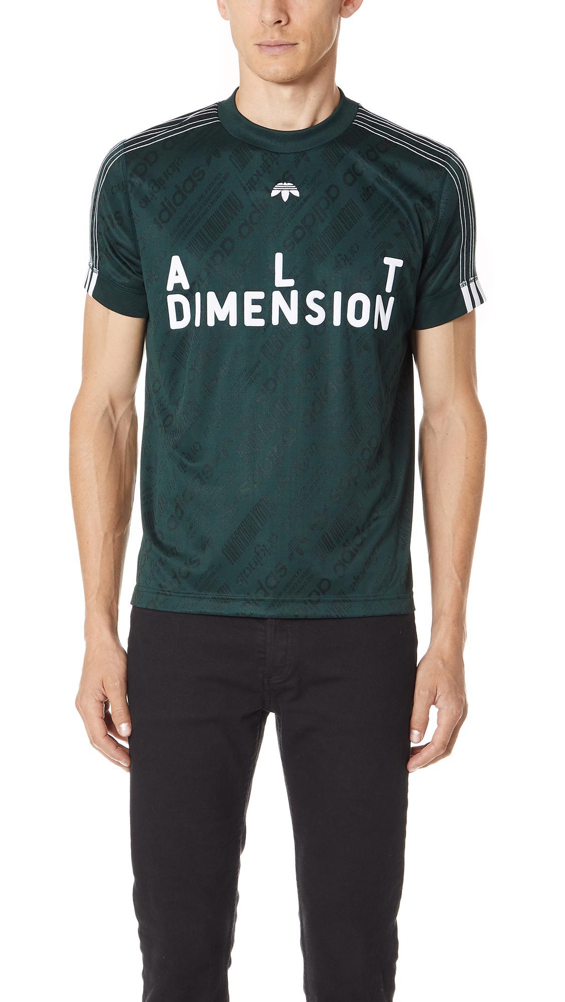 super popular c1d15 0e0b0 Adidas Originals By Alexander Wang Alt Dimension Slim Fit Soccer Jersey In  Green Night